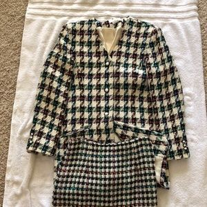 Vintage The Limited 2 Piece Tweed Suit